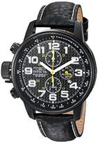 Invicta Men's 'I-Force' Quartz Stainless Steel and Leather Casual Watch