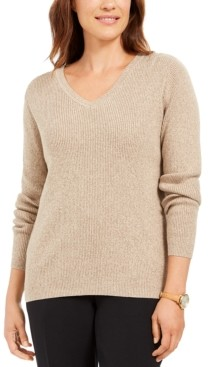 Karen Scott Ribbed-Knit Cotton Sweater, Created for Macy's