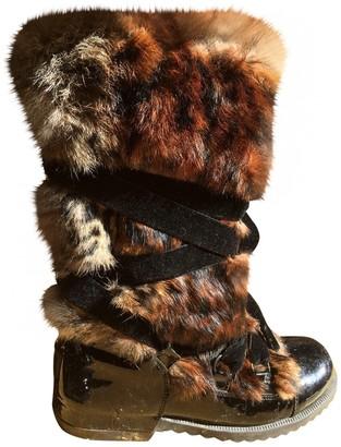 Sonia Rykiel \N Black Leather Boots
