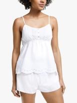 John Lewis & Partners Bobbie Camisole And Shorts Pyjama Set, White