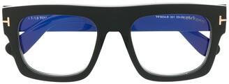 Tom Ford Chunky Square Frame Glasses