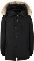 Canada Goose Chateau Black Fur-trimmed Twill Parka
