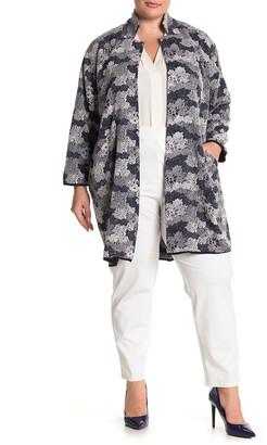 Philosophy di Lorenzo Serafini Jacquard Open Front Topper Jacket (Plus Size)