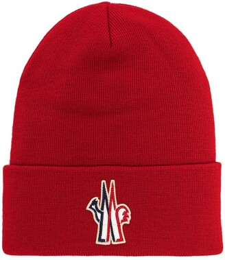 MONCLER GRENOBLE Logo-Patch Beanie Hat