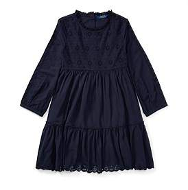 Polo Ralph Lauren Eyelet Cotton Dress(8-14 Years)
