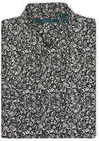 Perry Ellis Long Sleeve Rose Print Shirt
