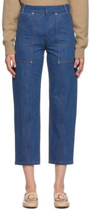 Chloé Blue Cropped Jeans