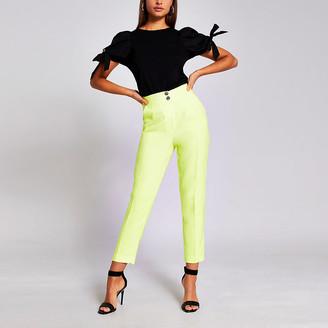 River Island Yellow cigarette trousers