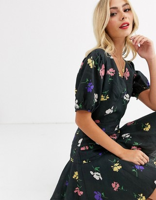 Talulah pinata floral mini dress with puff sleeves