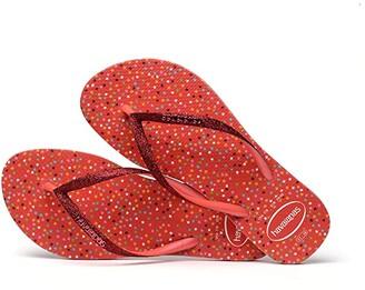 Havaianas Slim Carnaval Sandal (Black) Women's Shoes