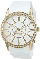 Esprit TP10612 Women's Quartz Watch with Silver Dial Analogue Display and White Silicone Strap ES106122011