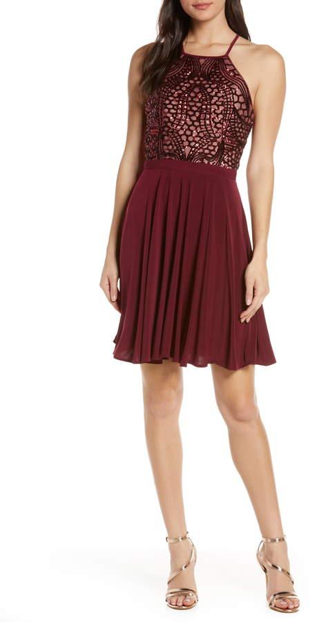 d6efef42f559 Fit And Flare Sequin Dress - ShopStyle