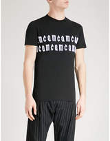 McQ Logo-embroidered cotton-jersey T-shirt