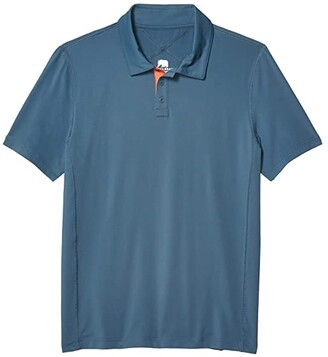 The Normal Brand Cross-Back Seamed Performance Polo (Mineral Blue) Men's Clothing