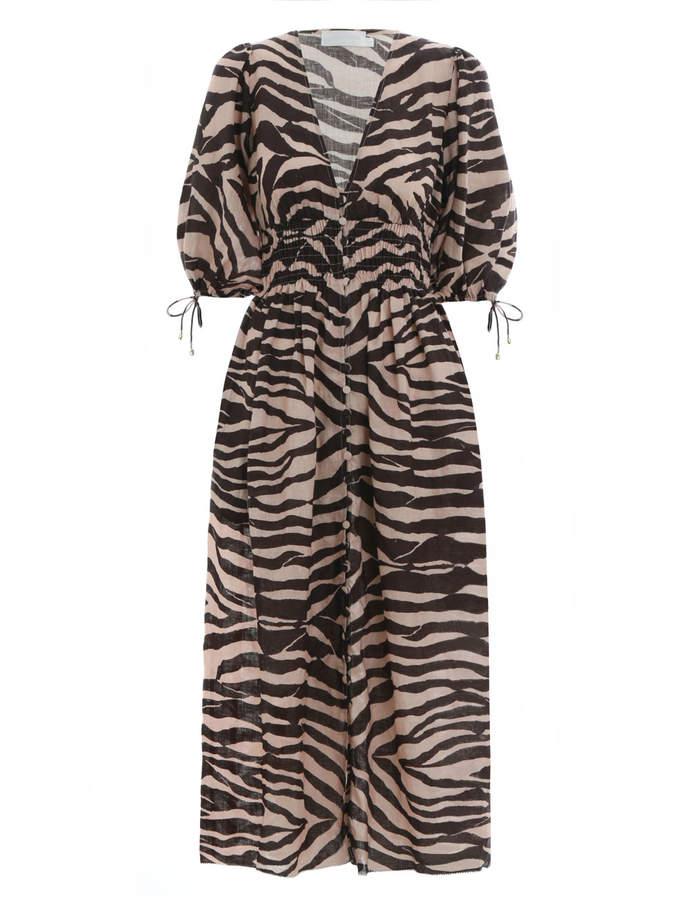 Zimmermann Juniper Shirred Waist Dress