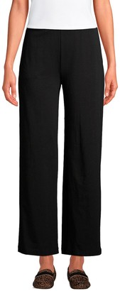 Lands' End Women's Wide-Leg Pull On Ankle Pants