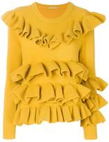 Marco De Vincenzo ruffled trim top