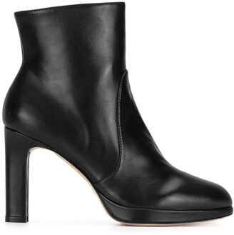 Stuart Weitzman Side-Zip Ankle Boots