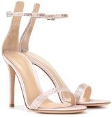 Gianvito Rossi Portofino Embellished Satin Sandals