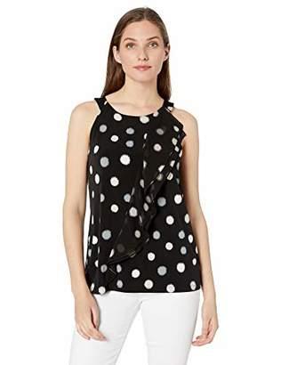 Calvin Klein Women's Printed Halter Top with Ruffle