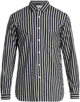 TOMORROWLAND Long-sleeved striped cotton-flannel shirt
