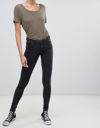 Noisy May low rise skinny jegging jeans in gray