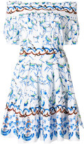 Peter Pilotto printed bardot dress - women - Cotton - 8