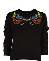 Alexander McQueen Embellished Buttefrfly Sweatshirt