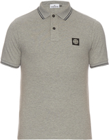 Stone Island Short-sleeved stretch cotton polo shirt