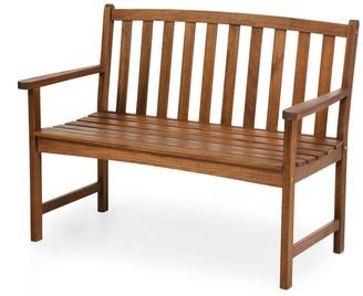 Evergreen Eucalyptus Wood Bench - Natural - 46.5x35.5x23.5