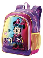 "American Tourister Disney 16"" Minnie Mouse Kids Backpack - Purple"