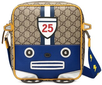Gucci Kids Shoulder bag with toy car on GG motif