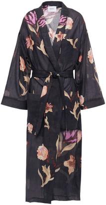 Nanushka Kimo Quilted Printed Cotton-voile Kimono