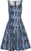 Oscar de la Renta Pleated jacquard dress