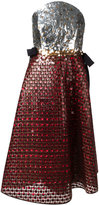 DELPOZO strapless sequin dress - women - Silk/Polyester/Virgin Wool/Cotton - 40