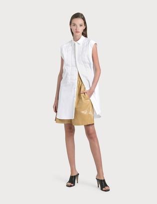 Bottega Veneta Leather Shorts