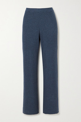 Skin Katia Ribbed Cotton-blend Pants - Blue