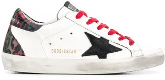 Golden Goose animal-print Superstar sneakers