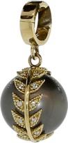 Mizuki Black Tahitian Diamond Feather Clip Pendant