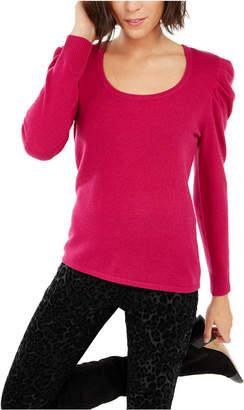 INC International Concepts Inc Cashmere Puff-Sleeve Sweater
