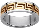 Kohl's Yellow Ion-Plated Stainless Steel and Stainless Steel Greek Key Spinner Band - Men