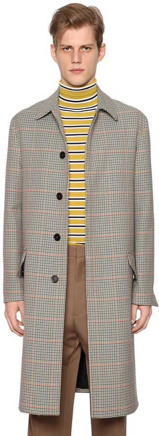 Marni Plaid Mixed Wool Coat