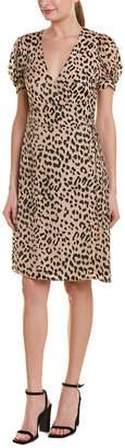 Alice + Olivia Rosette Silk-Blend Wrap Dress