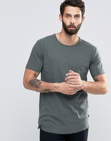 ONLY & SONS Slub Jersey T-shirt With Raw Hem