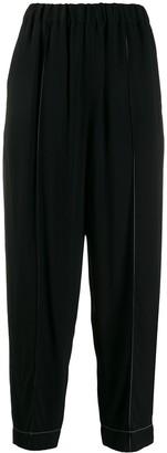 Marni high-rise elasticated trousers