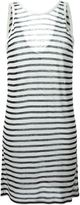 Alexander Wang striped tank dress - women - Linen/Flax/Rayon - XS