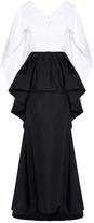 Christian Siriano Peplum Cape Gown