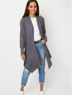 George Grey Soft Touch Hooded Ribbed Waterfall Cardigan