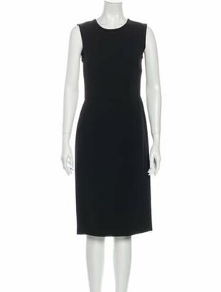 Dolce & Gabbana Crew Neck Midi Length Dress Black