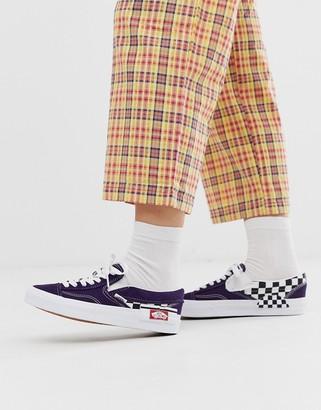 Vans Slip-On Cap laces purple trainers